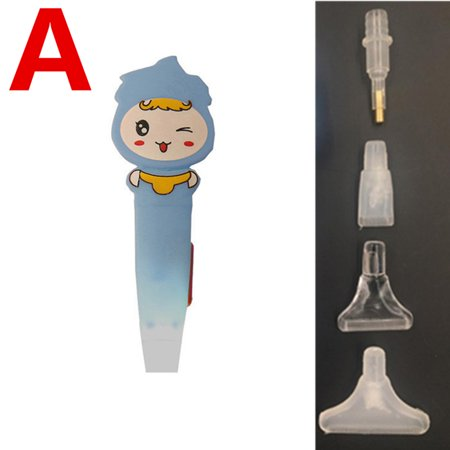 LED Glowing Cartoon DIY Diamonds Painting Cross Stitch Embroidered Drill Pen Blue A section