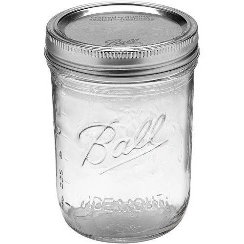 Ball 24-Count Wide Mouth Pint Jars with Lids and Bands