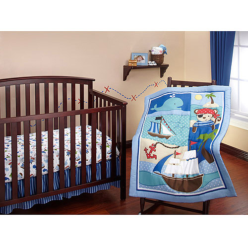 Little Bedding by NoJo Baby Buccaneer 3-Piece Crib Bedding Set