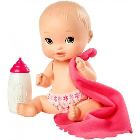 Little Mommy Mini Baby Nurture and Care Doll with Blue Bottle ()