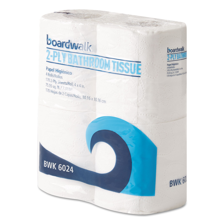 Office Packs Standard Bathroom Tissue, 2-Ply, White, 170 Sheets/RL, 24 Rolls/BD