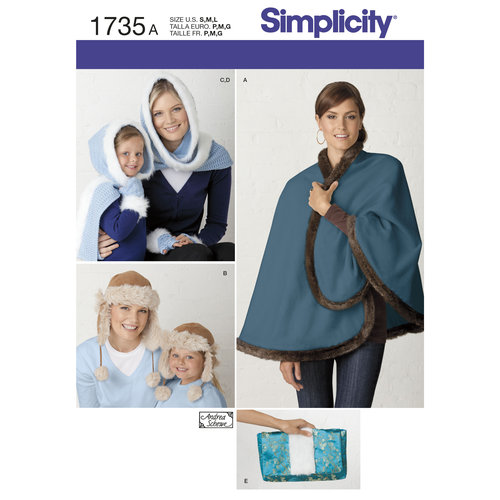 Simplicity Children's and Misses' Accessories (S, M, L)