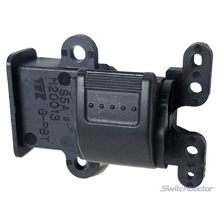 Honda Civic Left Rear Power Window Switch 2001-2005 (Black Button) OEM (2001 2002 2003 2004 2005) (electric control panel lock button auto driver passenger door)
