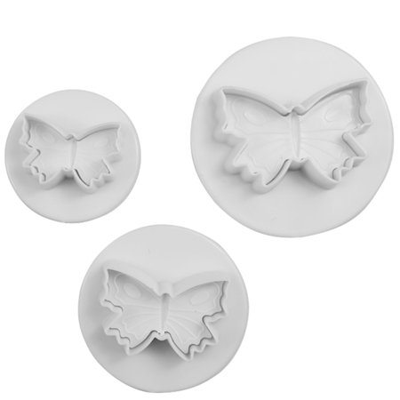 3PCS DIY Cake Butterfly Model Fondant Cakes Biscuit Baking Mold Decorating Cookie Plunger Cutter Moulding Tool](Halloween Biscuit Decorating Ideas)
