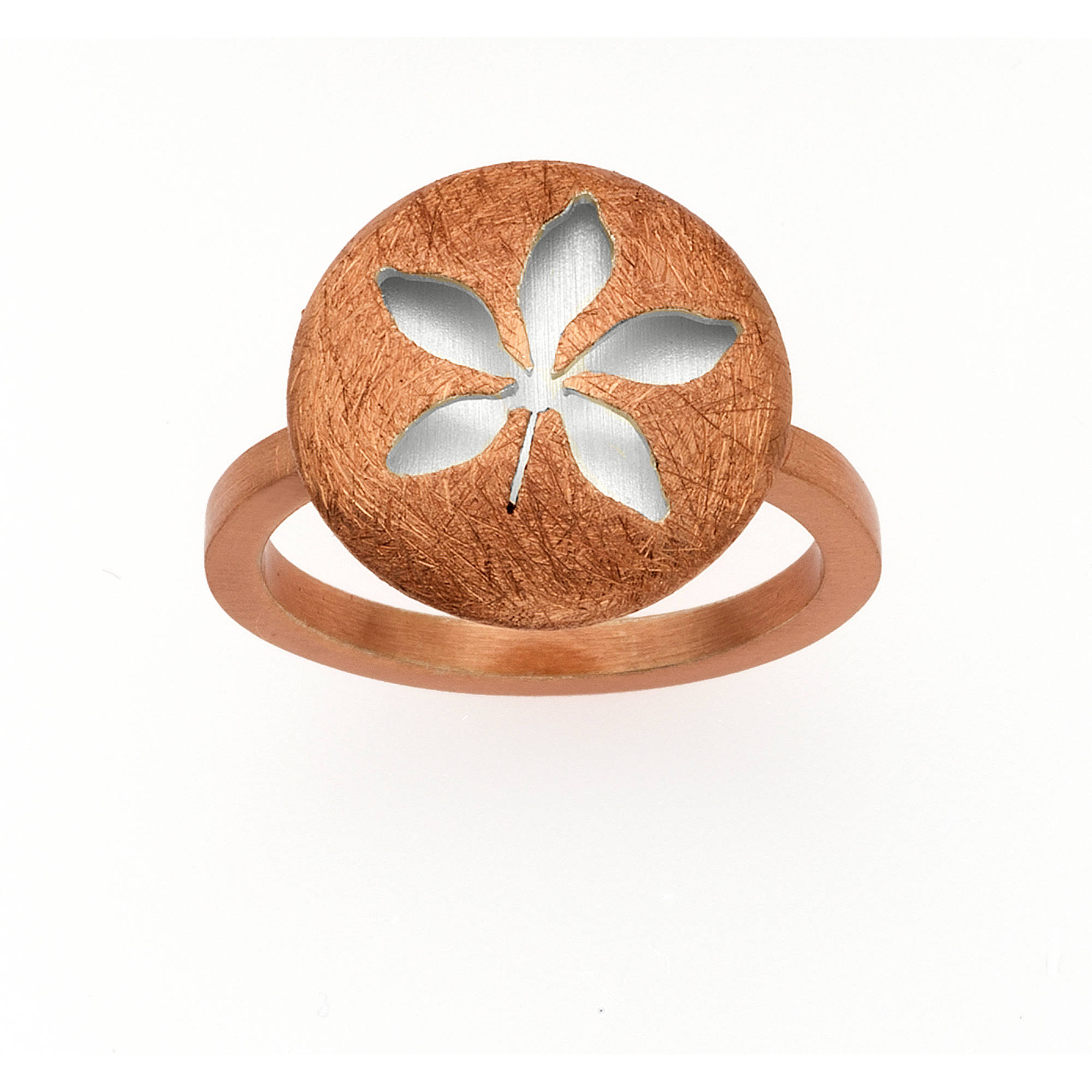 Image of 5th & Main 14kt Rose Gold-Plated and Sterling Silver Leaf Ring