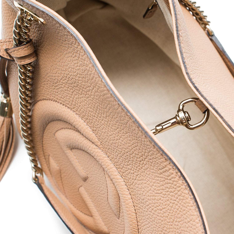 a70177069d6 Gucci - Gucci Camelia Camel Pebbled Leather Soho Shoulder Hand Bag Tassel -  Walmart.com