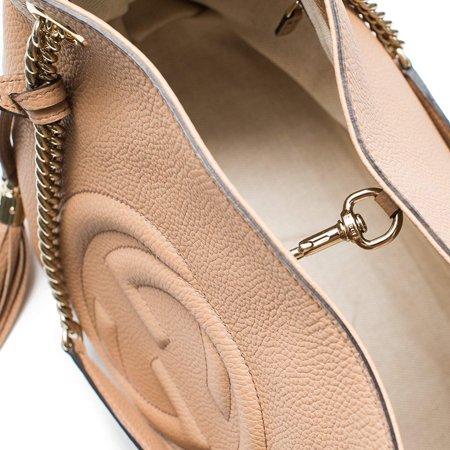 Gucci - Gucci Camelia Camel Pebbled Leather Soho Shoulder Hand Bag Tassel -  Walmart.com 653e64fad893d