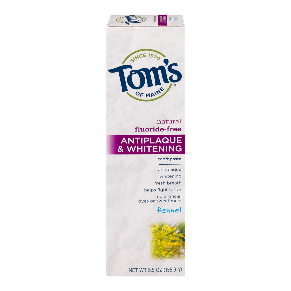 Toms Of Maine Natural FluorideFree Antiplaque Whitening