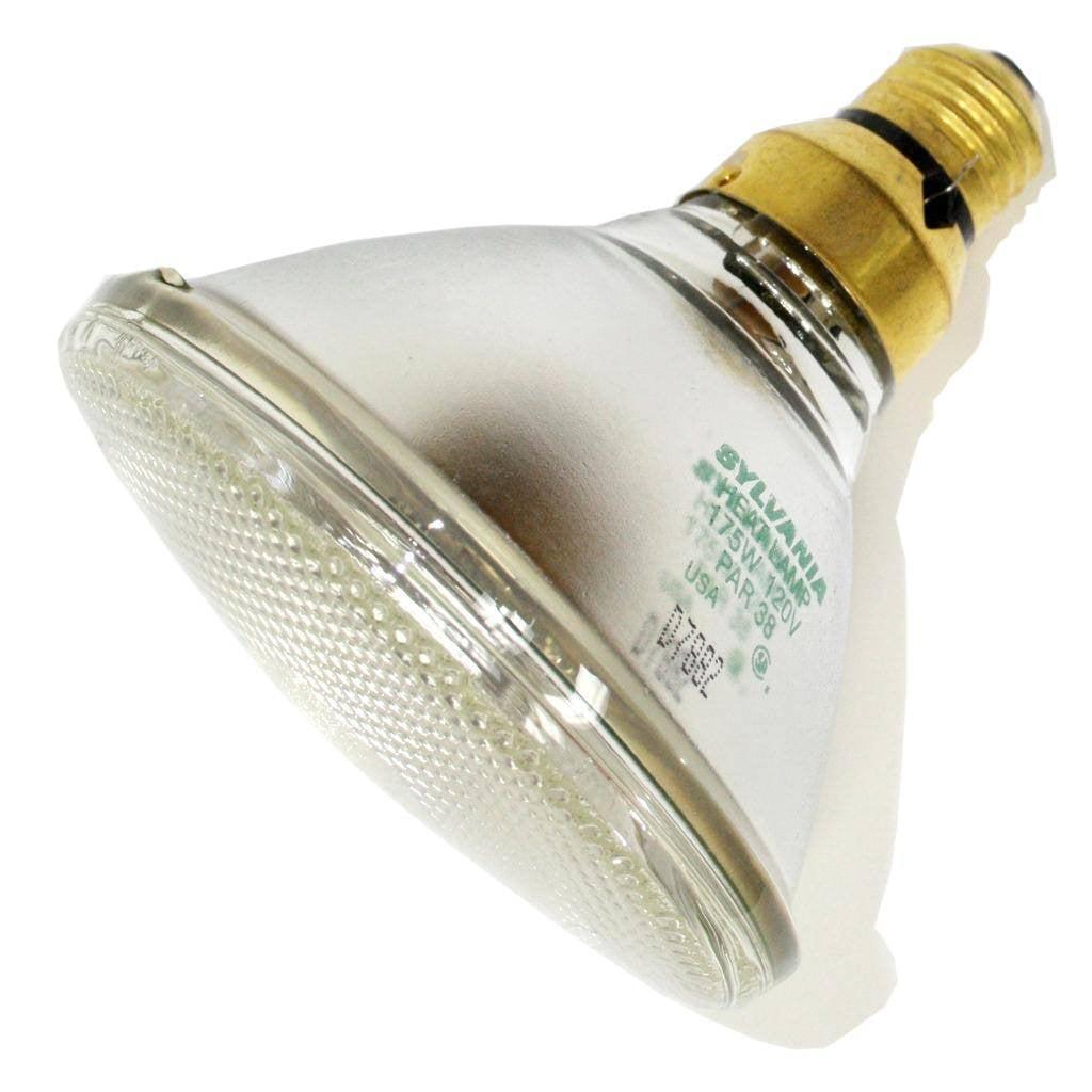 Sylvania 13836 - 175W/PAR38/HEAT120V Heat Lamp Light Bulb ...
