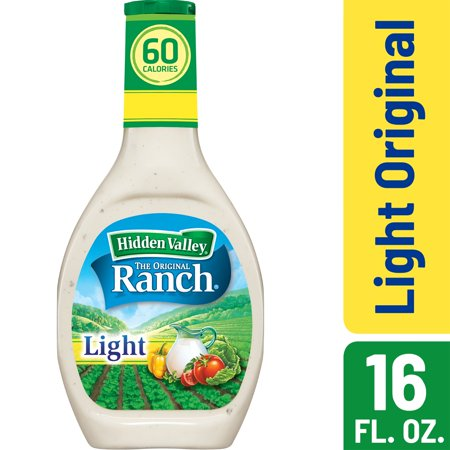 Hidden Valley Original Ranch Light Salad Dressing & Topping - Gluten Free - 16oz Bottle