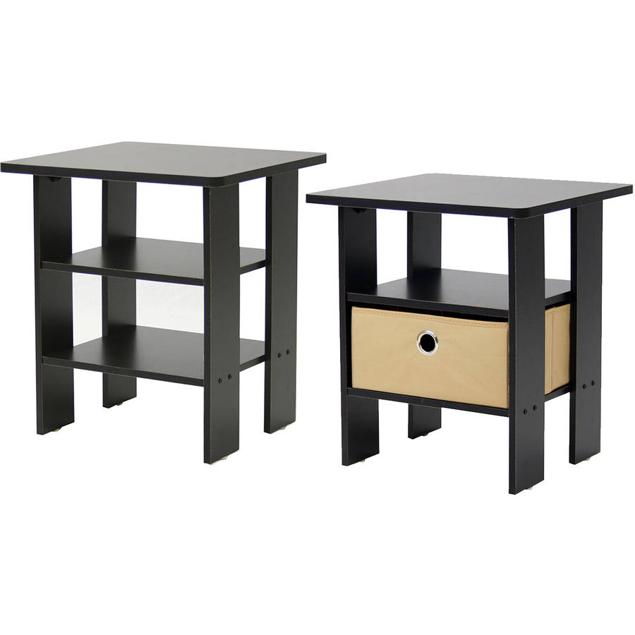 Table In Bedroom Furinno Petite End Table Bedroom Night Stand Set Of 2 Multiple
