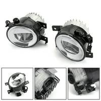 Bruce /& Shark Car Fog Light Lamp Cob Led Lens Angel Eyes Ultra Bright White 3.5Inch High Power