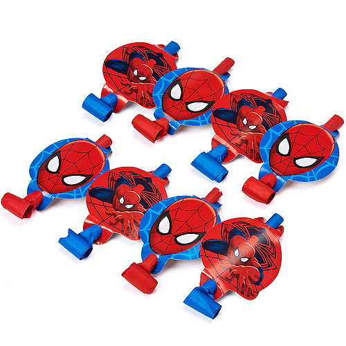 Spider-Man Party Blowers, 8ct