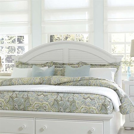 Liberty Furniture Summer House I Queen Panel Headboard in Oyster - Liberty Bedroom Furniture