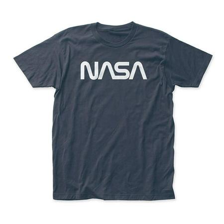 Indigo Mens Shirt - Nasa Men's Retro Logo Slim-Fit T-Shirt Indigo