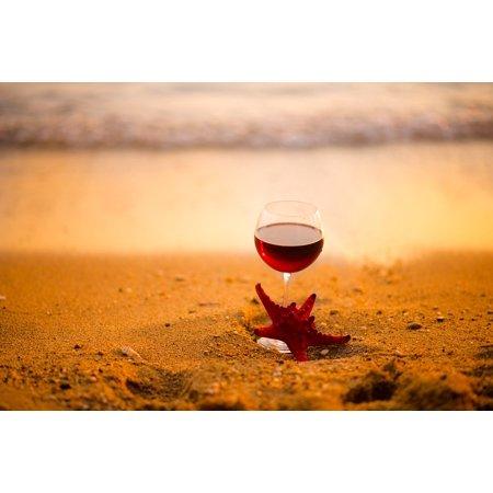 LAMINATED POSTER Sea Beach Star Wine Sand Poster Print 24 x 36