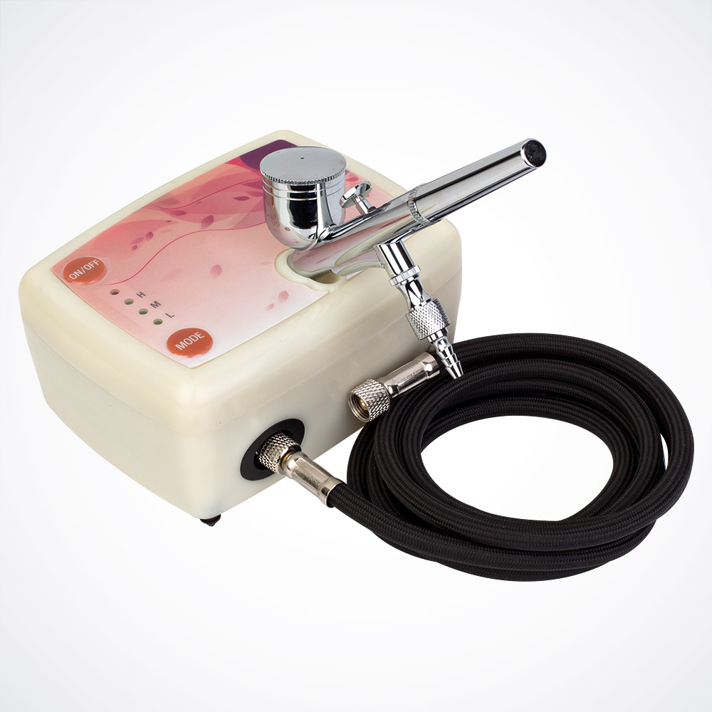 Dual Action Airbrush Compressor Kit Makeup Cake Nail Tattoo Art Spray Gun Hobby