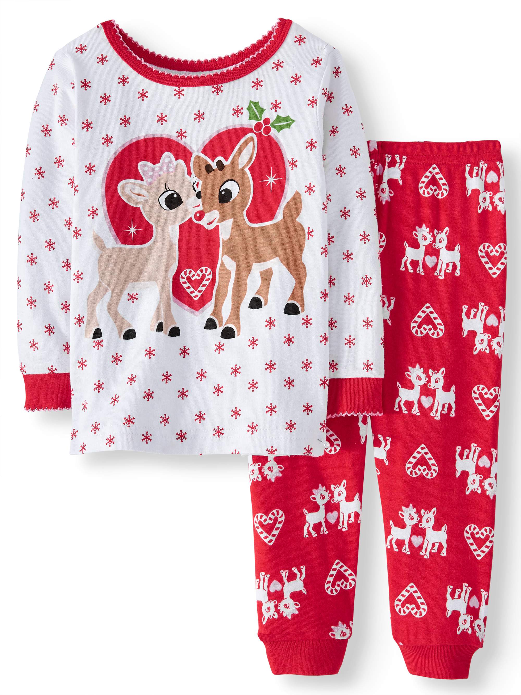 Rudolph the Red Nosed Reindeer - RUDOLPH THE RED NOSED REINDEER Christmas  Long Sleeve Tight Fit Pajamas 60db6dfb9