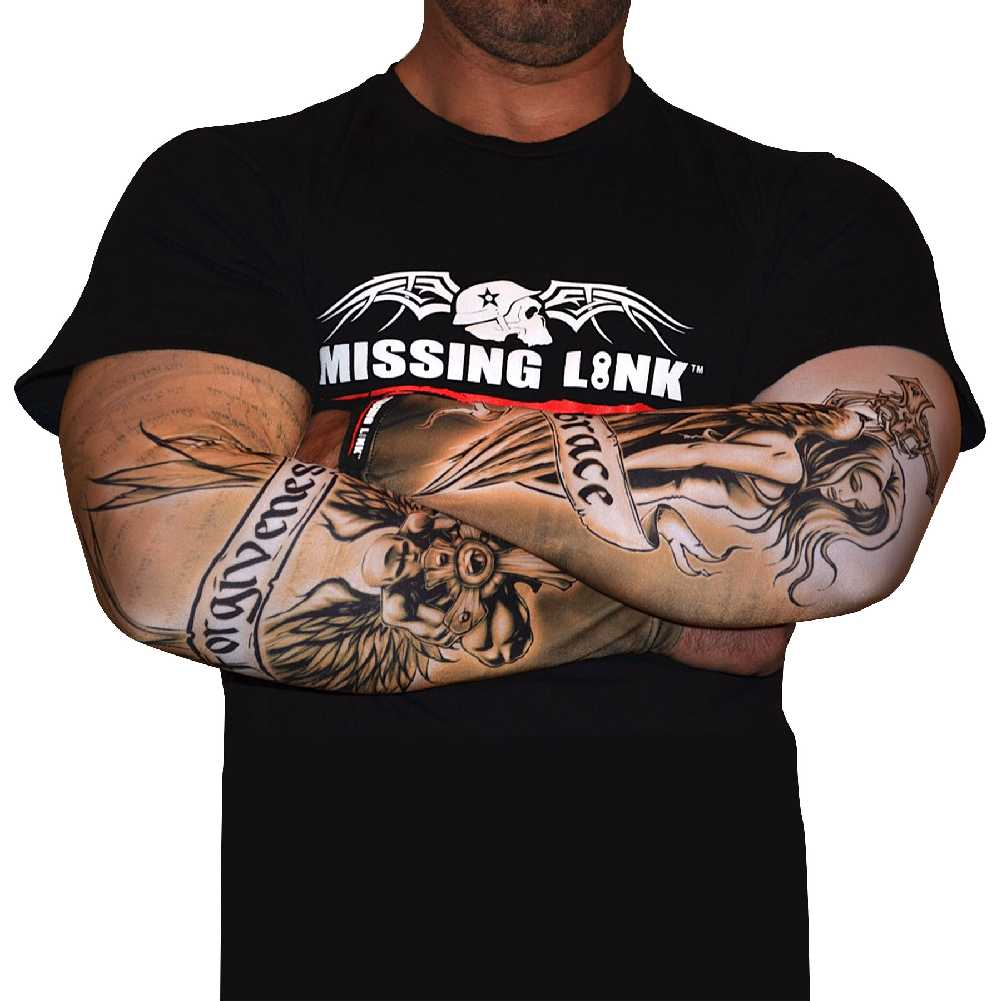Missing Link SPF 50 Grace and Forgiveness ArmPro Tattoo Compression Sleeves APGF