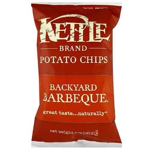 Kettle Brand Chips Backyard Barbeque Potato Chips, 5 oz (Pack of 15)