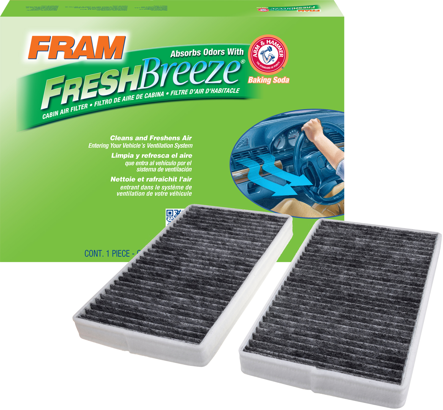 FRAM Fresh Breeze Cabin Air Filter, CF8791A