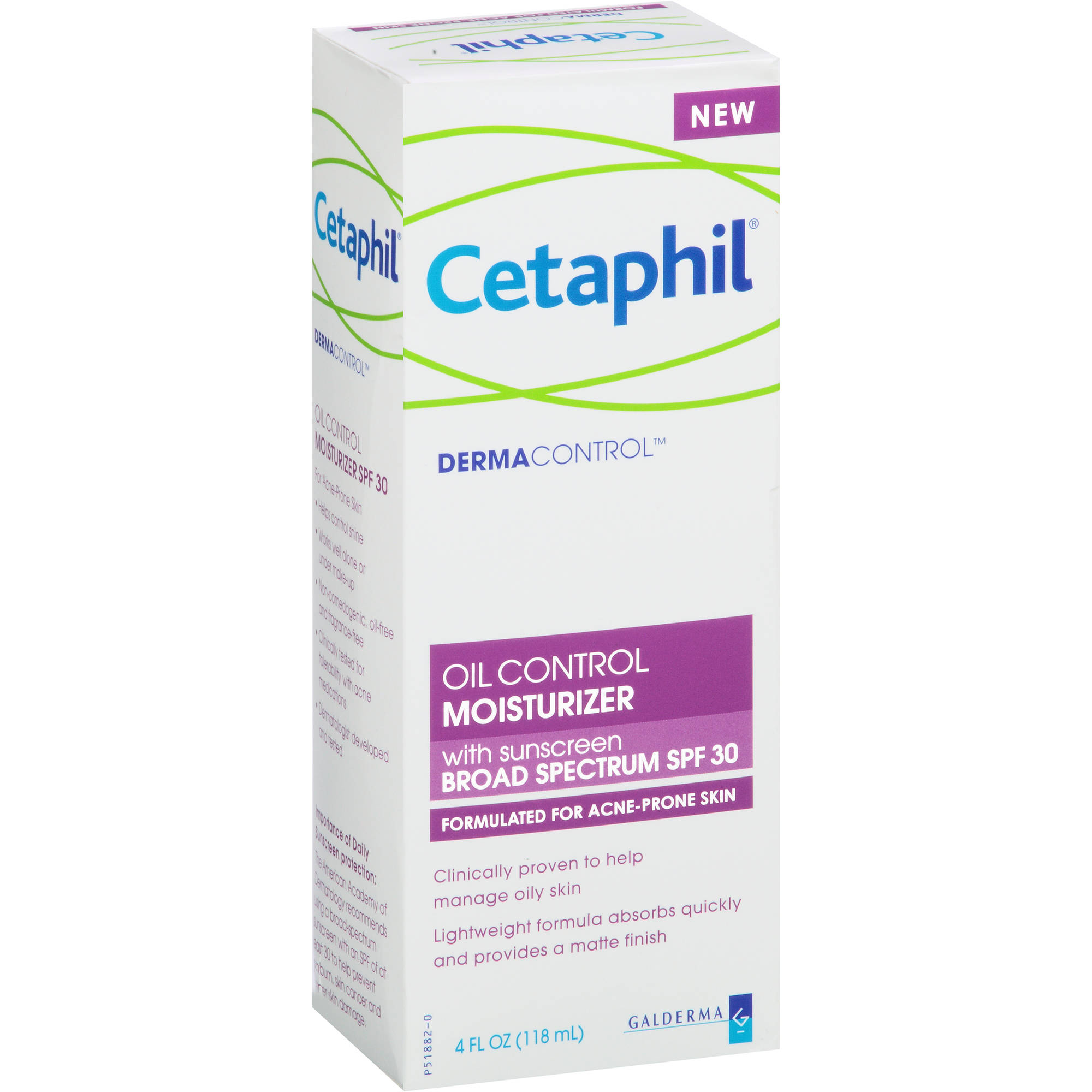 Cetaphil DermaControl Oil Control SPF 30 Moisturizer, 4 oz