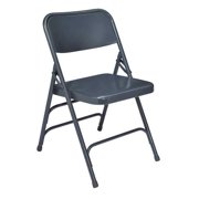 National Public Seating Folding Chair,Blue,18-3/4 In.,PK4