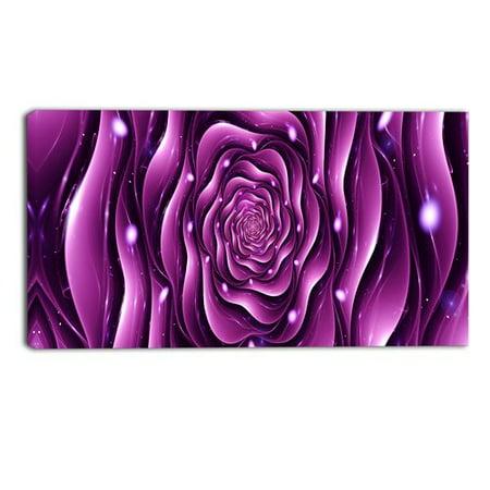 Design Art Purple Rose Digital Artwork on Cotton Canvas, 32