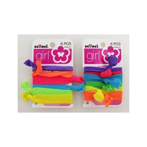 Scunci Girl Knot Ponytailer 6-Count Pack Of 3