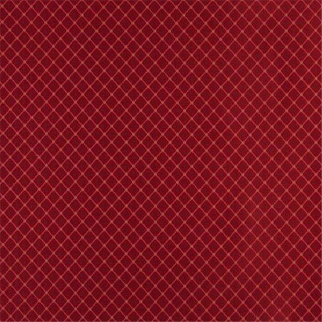 Designer Fabrics D328 54 in. Wide , Red And Green Diamond Jacquard Woven Upholstery Fabric