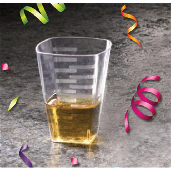 EMI Yoshi EMI-SSG1C 1 Oz Square Clear Shot Glass - Pack of 288