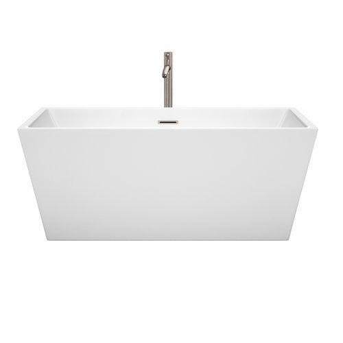 Wyndham Collection Sara 59 x 31.5 Freestanding Soaking Bathtub