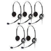 Jabra BIZ 1900 QD Duo Headset w/ Noise-Canceling Microphone & Pivoting Boom Arm