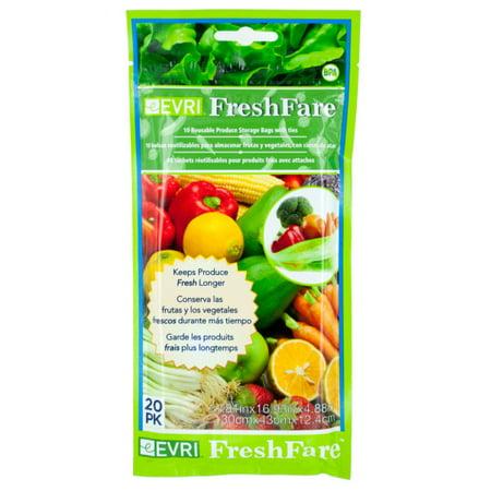 Freshfare Reusable Produce Storage Bags 24 Count