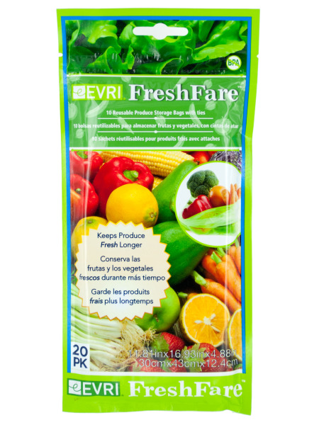 Freshfare Reusable Produce Storage Bags 24 Count  sc 1 st  Walmart & Freshfare Reusable Produce Storage Bags 24 Count - Walmart.com