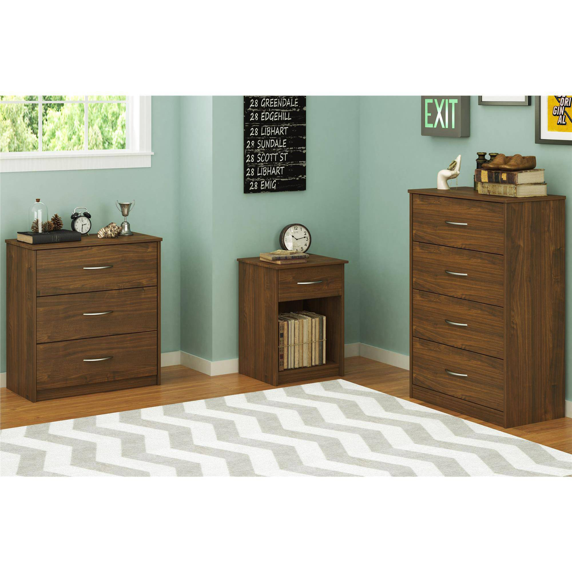 Mainstays 4 Drawer Dresser, Multiple Finishes   Walmart.com