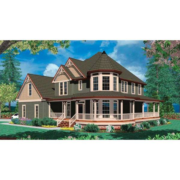 TheHouseDesigners-4333 Victorian House Plan with Basement Foundation (5 Printed Sets)