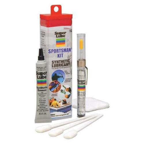 SUPER LUBE 11520 Sportsmans Grease and Oil Kit,Box,7mL G2272201