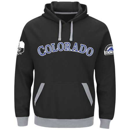 "Colorado Rockies Majestic MLB ""Third Wind"" Mens Hooded Sweatshirt by"