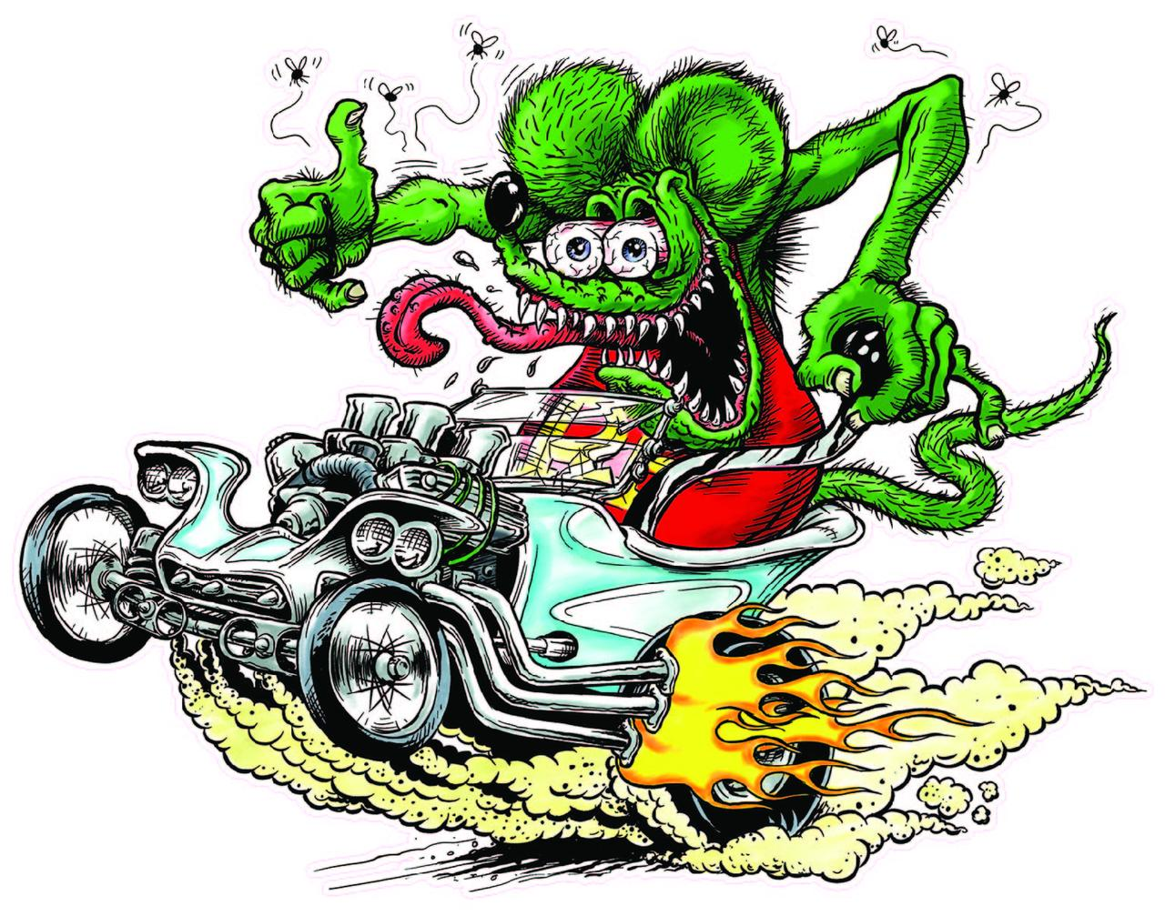 Rat fink California License Plate Character goods Toy Interior