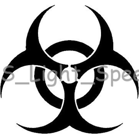 Cars 2 Hank Halloween ((2) Biohazard Hazardous Waste Halloween Vinyl Decal Car Window Stickers)