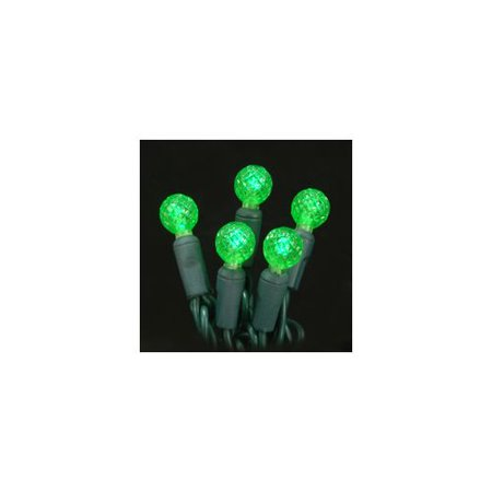 (Christmas at Winterland S-70G12GR-4G 23 Foot String of G12 Globe Green LED Light)