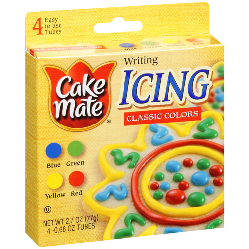 Cake Mate Classic Colors Writing Icing, 2.7 oz