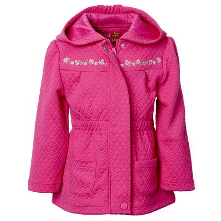 e0d5edb80a57 Pink Platinum Baby Toddler Girl Quilted Knit Jacket - Walmart.com