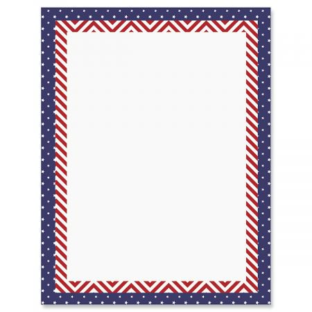 patriotic banner patriotic letter papers set of 25 american flag