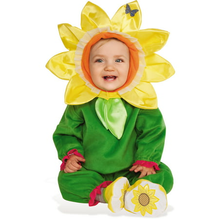 Sunflower Baby Infant Toddler Girls Yellow Flower Halloween Costume