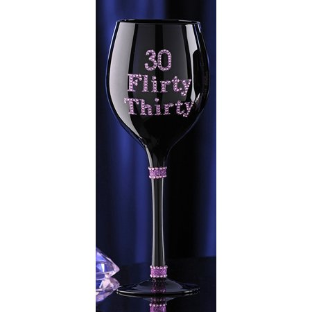 Glitter Flirty 30 Birthday Wine Glass Sparkly 30th Gift For Women By Craft
