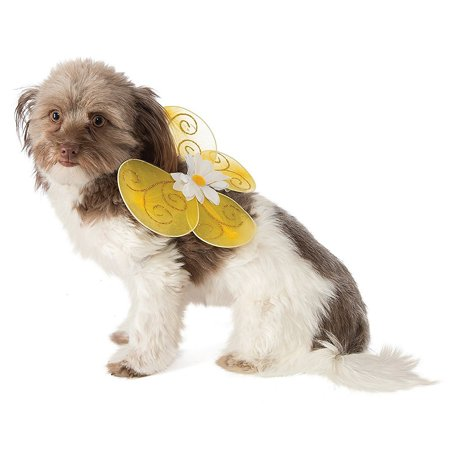 Dog Wings Pet Costume Yellow Bee - Small/Medium