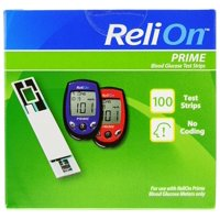 ReliOn Prime Blood Glucose Test Strips, 100 Ct