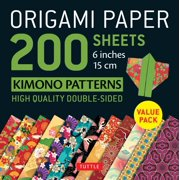 "Origami Paper 200 Sheets Kimono Patterns 6"" (15 CM) : Tuttle Origami Paper: High-Quality Double-Sided Origami Sheets Printed with 12 Patterns (Instructions for 6 Projects Included)"